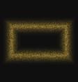 golden glitter halftone dotted frame vector image