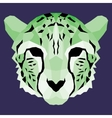 Green low poly cheetah vector image vector image