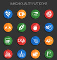 grocery store 16 flat icons vector image vector image