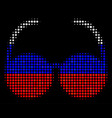 halftone russian spectacles icon vector image