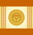 hawaiian sun sign in polynesian style vector image