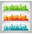 Industrial city skyline sets vector image