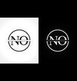 initial monogram letter no logo design template vector image vector image