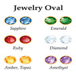 Jewelry Oval Isolated Objects vector image