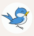 Little Blue Bird vector image vector image