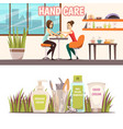 manicure banners set vector image vector image