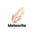meteor impact geometric polygonal logo icon vector image vector image