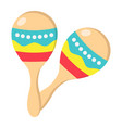 mexican maracas flat icon music and instrument vector image vector image
