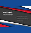 modern background with slovak colors and grey vector image vector image