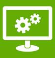 monitor settings icon green vector image vector image