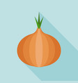 onion icon vector image vector image