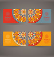ornamental colorful template for business card vector image vector image