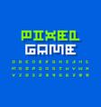 pixel video game font vector image