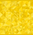 polygonal golden abstract geometrical triangle vector image vector image