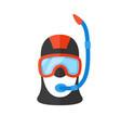 portrait scuba diver in bright suit vector image