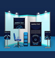 Promotional Exhibition Stand Template vector image vector image