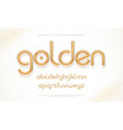 realistic gold metal font modern minimal font vector image vector image