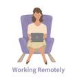 remote work concept vector image vector image