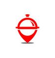 restaurant location logo icon vector image vector image
