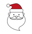santa claus face design vector image