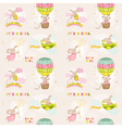Seamless Baby Bunny Background vector image vector image