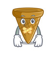silent sweet wafer cone isolated on maskot vector image vector image