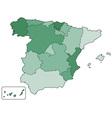 Spain contour map vector image vector image