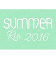 The inscription summer 2016 game olympic vector image
