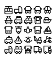 Transport Icons 8 vector image vector image