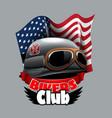 vintage bikers club logo with confiderate vector image vector image