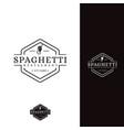 vintage hipster retro spaghetti pasta noodle logo vector image