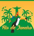 rio de jeaneiro poster travel in brasil south vector image