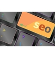 SEO button on the keyboard Business concept vector image