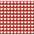 White hearts in flat icon style with long shadows vector image