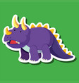 a triceratops sticker character vector image vector image