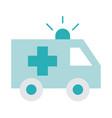 ambulance transport emergency health care vector image vector image