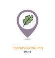 autumn leaves mapping pin icon vector image vector image