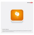balloons icon orange abstract web button vector image