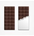 Black Chocolate Package Bar Blank vector image
