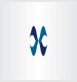 blue x logo icon letter symbol vector image vector image