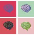 Brain popart vector image