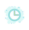 cartoon clock timer icon in comic style watch vector image vector image