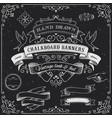 chalkboard banners and elements vector image