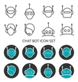 Chat bot icon set vector image