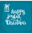 Christmas card template for holiday design vector image