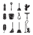 Cleaning Home Appliances Icons Set Monochrome vector image