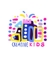 creative kids logo design template labels and vector image vector image