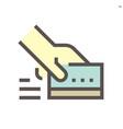 credir card purchase c icon design for financial vector image vector image