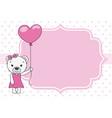 cute bear with balloon vector image vector image