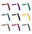 dangerous razor for shavingbarbershop single icon vector image vector image